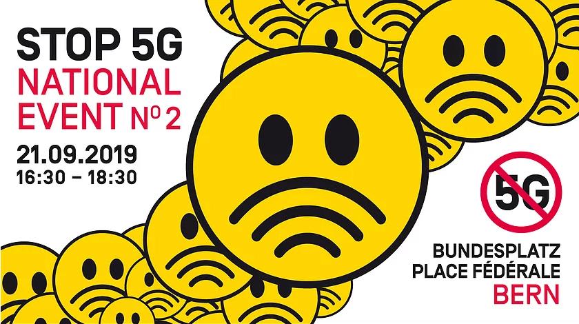 Stop5G Demo National Event 21 Sep 2019 Bern Switzerland